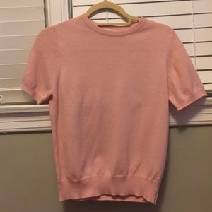 Neiman Marcus cashmere short sleeve sweater